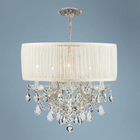 Bwood Collection Chrome 6 Light Crystal Chandelier Style 71092