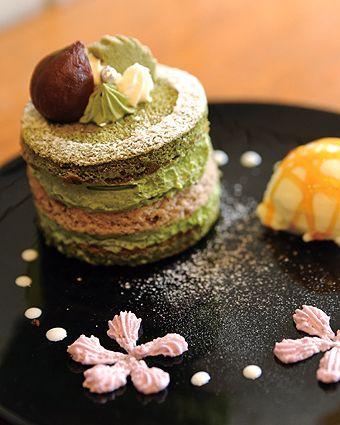 Japanese Matcha Green Tea Cake|抹茶ミルフィーユ