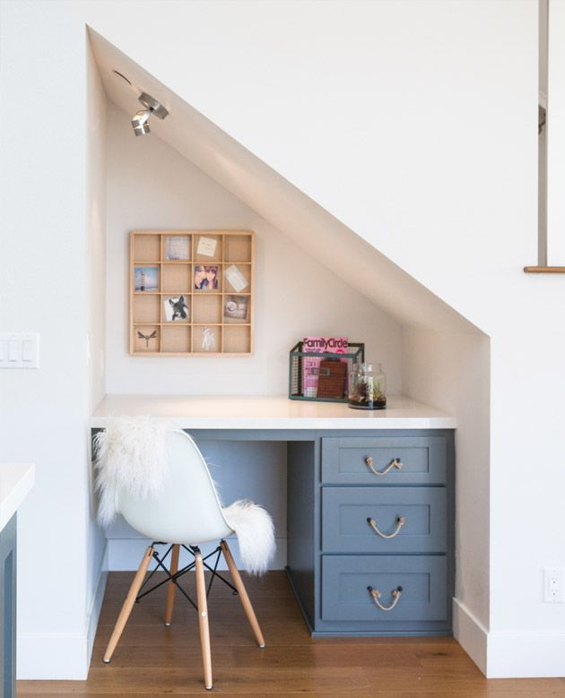 Under Stairs Ideas Part - 39: Office Spaces Pictures - Private Office Under The Stairs