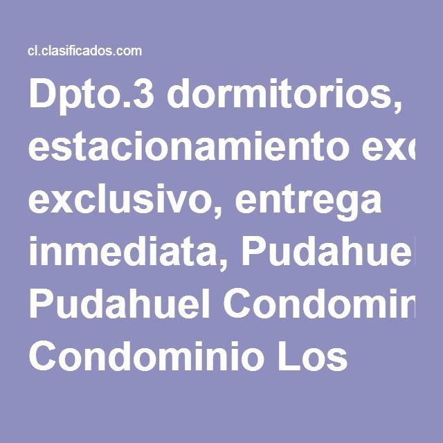 Dpto.3 dormitorios, estacionamiento exclusivo, entrega inmediata, Pudahuel Condominio Los Viñedos - Departamentos en venta en Pudahuel