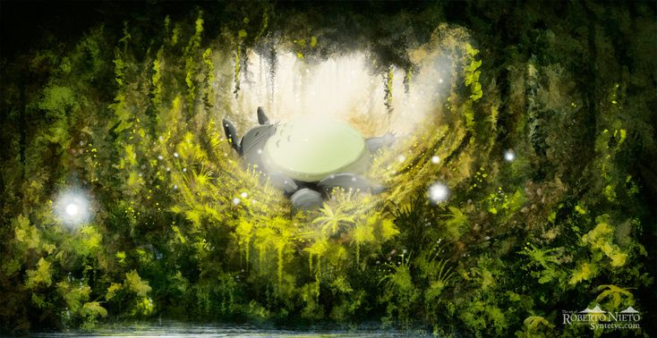 Totoro's dream by Syntetyc.deviantart.com