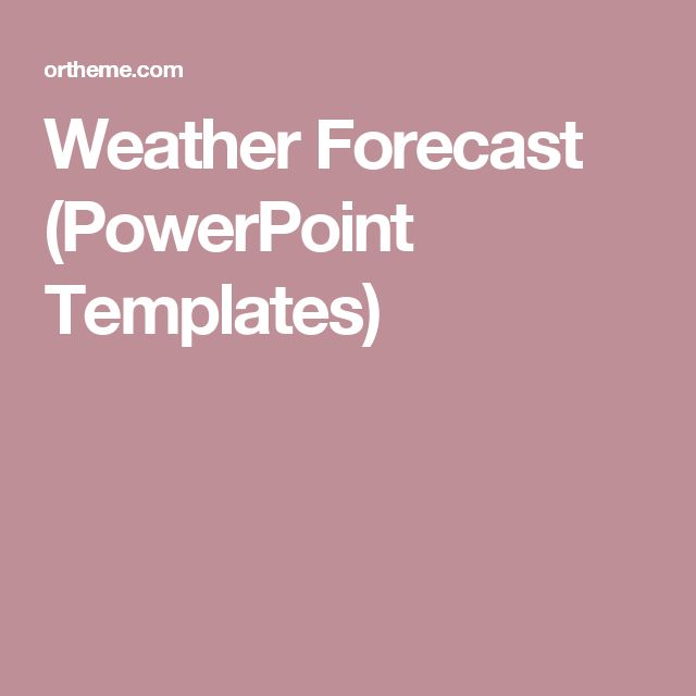 Weather Forecast (PowerPoint Templates)