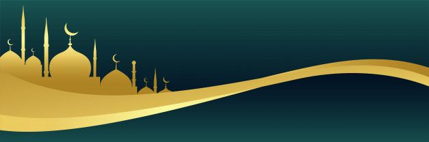 Download Golden Islamic Banner With Mosque Design For Free Mosque Design Islamic Background Photoshop Backgrounds Backdrops