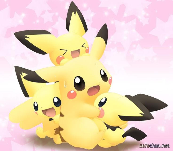 Pokemon characters - draw pikachu easy, Another very popular face ...