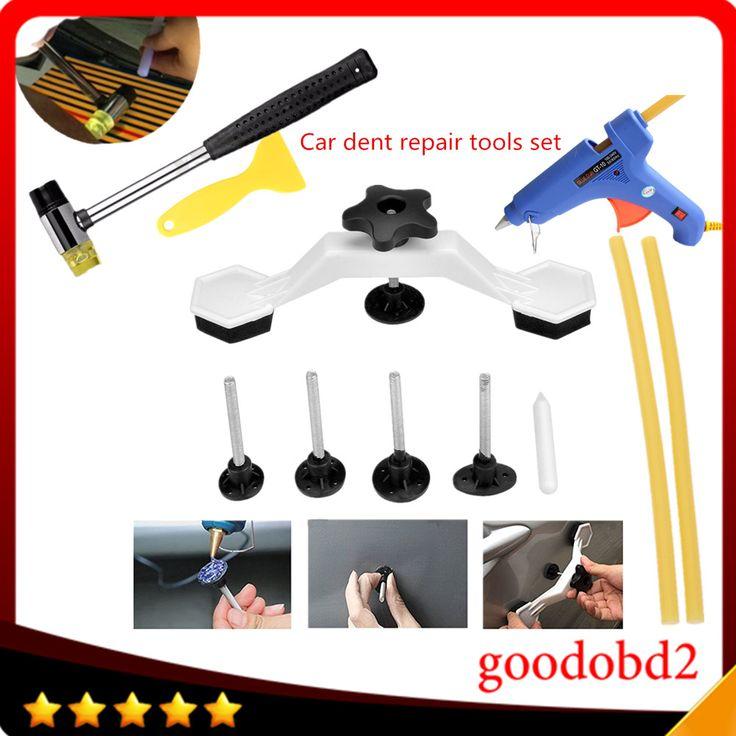 Car PDR dent repair hand Tools set Kit Plastic Bridge Pulling Dent Remover For Car Body Paintless Dent Repair Tool+Rubber+sticks