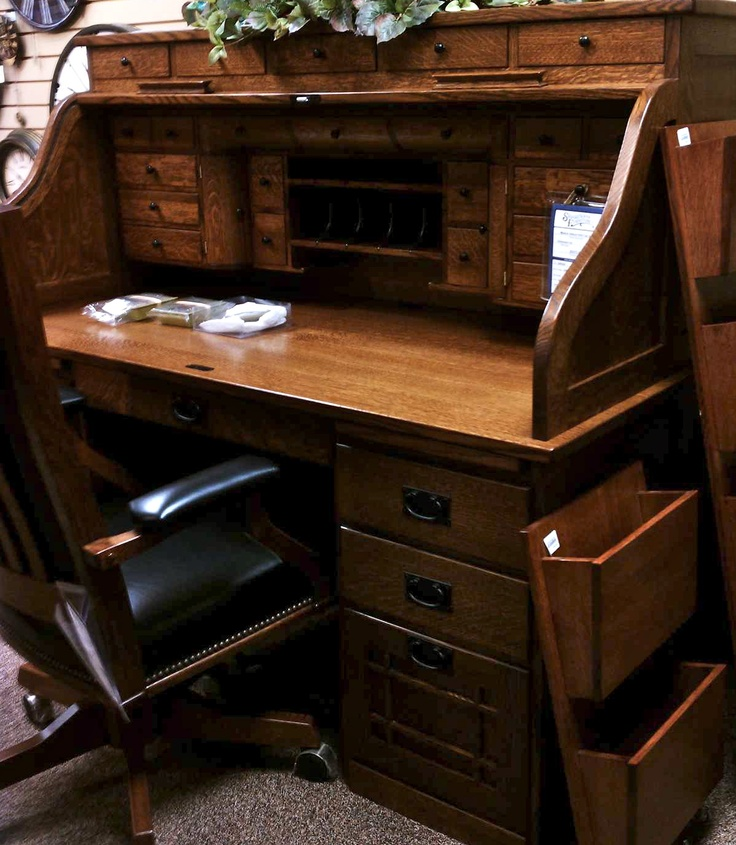 So Much Detail In This Amish Rolltop Desk Furniture