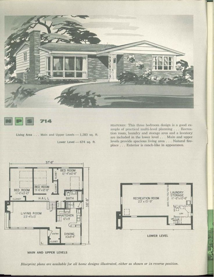 1000 Images About Vintage House Plans 1960s On Pinterest
