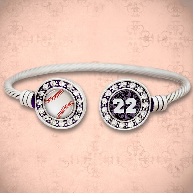 Custom Number Baseball Davey Cuff Bracelet, $9.98// love this cuff, can't wait to wear it to all of the games. You can put your players number on it. Perfect for our team fundraising.