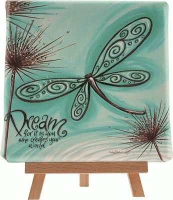 decorative canvas with quotes - Google Search -- Dream for it is you who creates your world.
