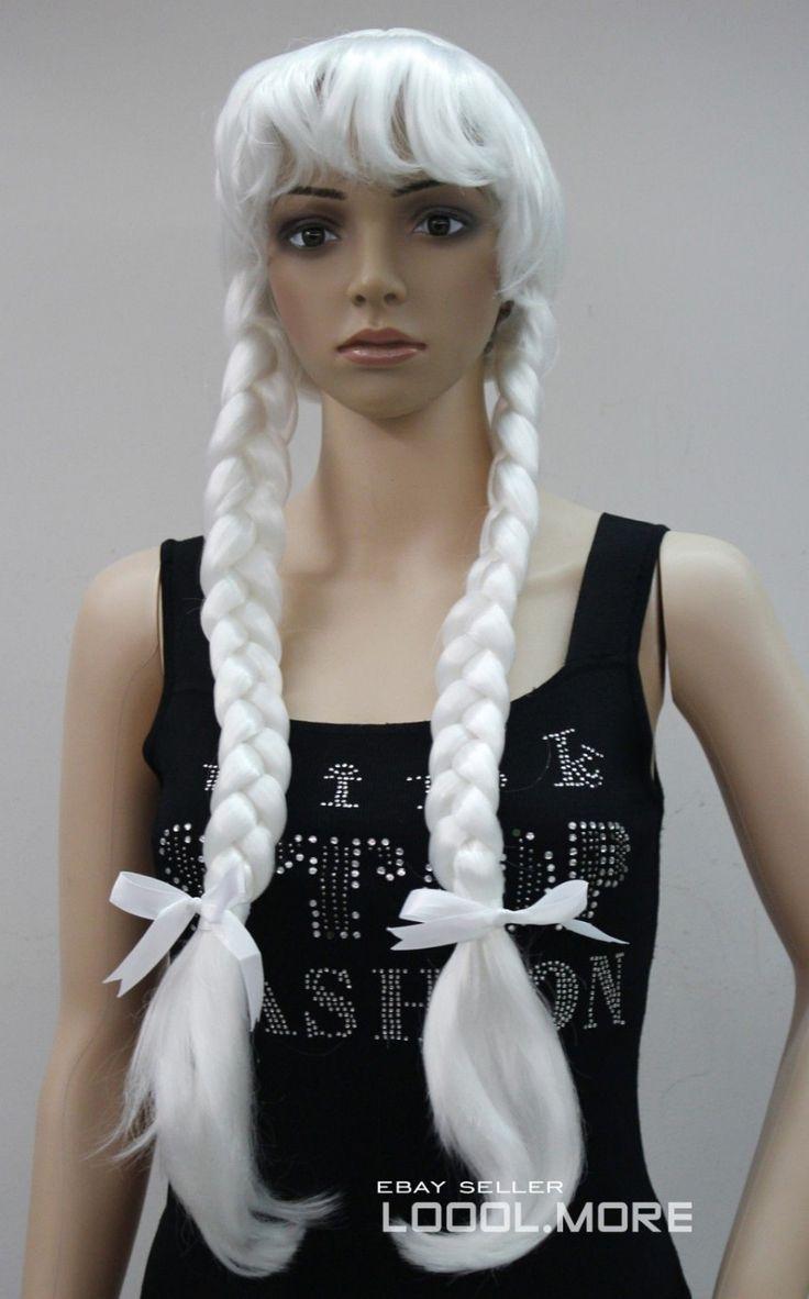 Маскарадный костюм косплей длинные двойной косы парик