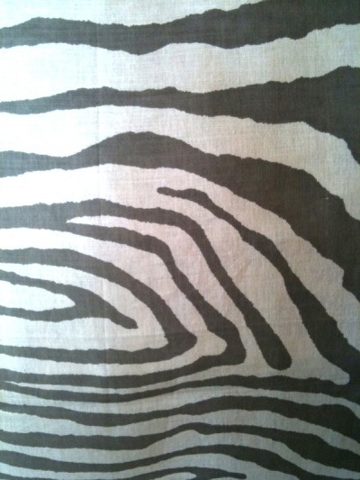 #fabric #linen #zebra Grammont Linen Zebra print in Truffle from Travers