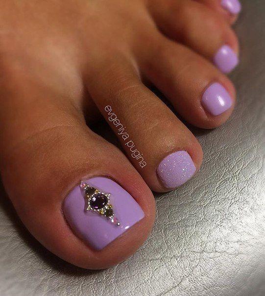 Best 25+ Purple toe nails ideas on Pinterest