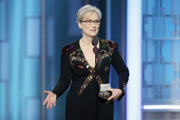Meryl Streep Photos Photos - In this handout photo provided by NBCUniversal, Meryl Streep accepts  Cecil B. DeMille Award  during the 74th Annual Golden Globe Awards at The Beverly Hilton Hotel on January 8, 2017 in Beverly Hills, California. - 74th Annual Golden Globe Awards - Show