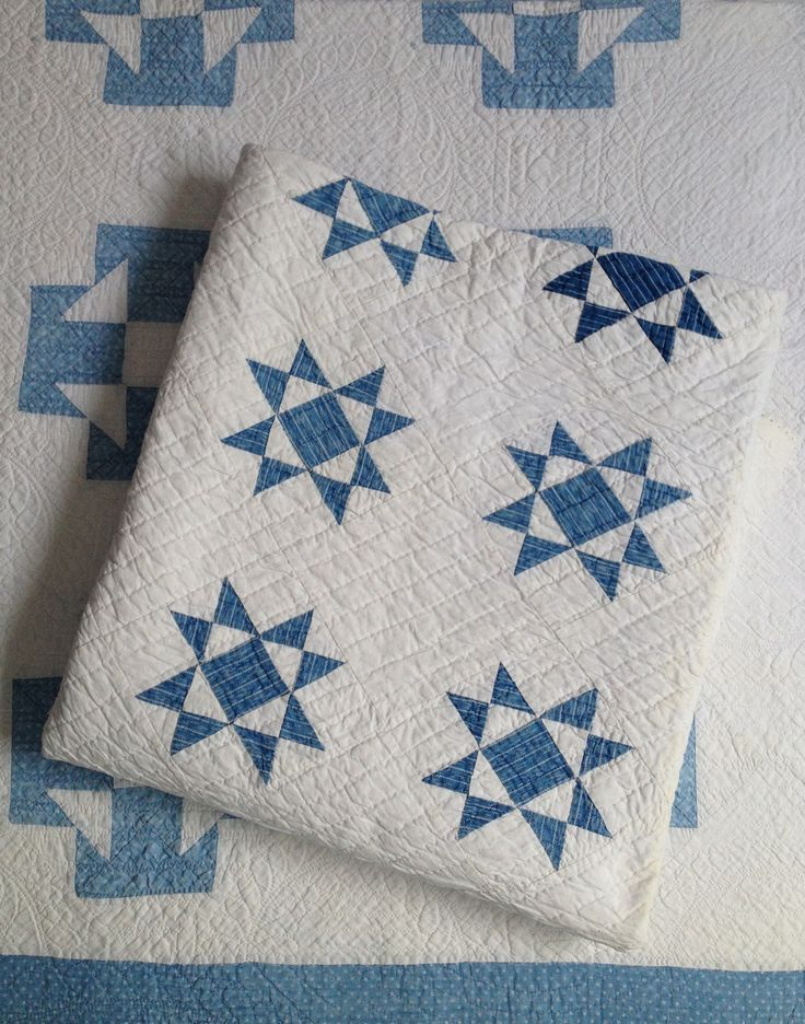 Plenty of blue and white quilts in stock.