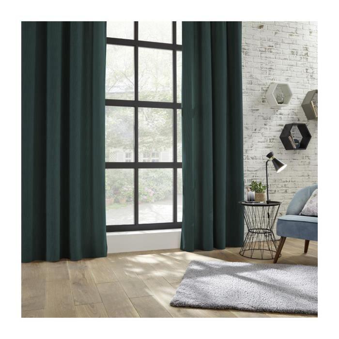Atmosphera Rideau En Velours Cotele Coloris Vert Cedre 140x260 Cm Vert Sapin En 2020 Rideaux Velour Rideaux Decoration Maison