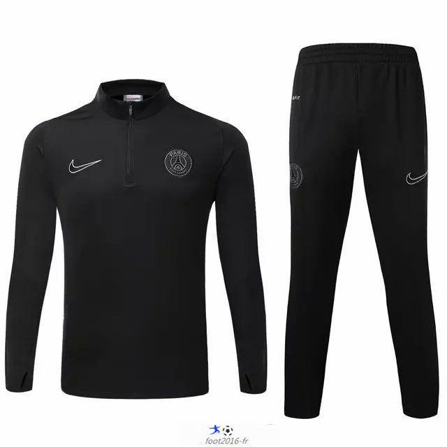 Boutique equipe de france nouveau survetement de foot psg noir 2015 2016 02 - Destockage salon complet pas cher ...