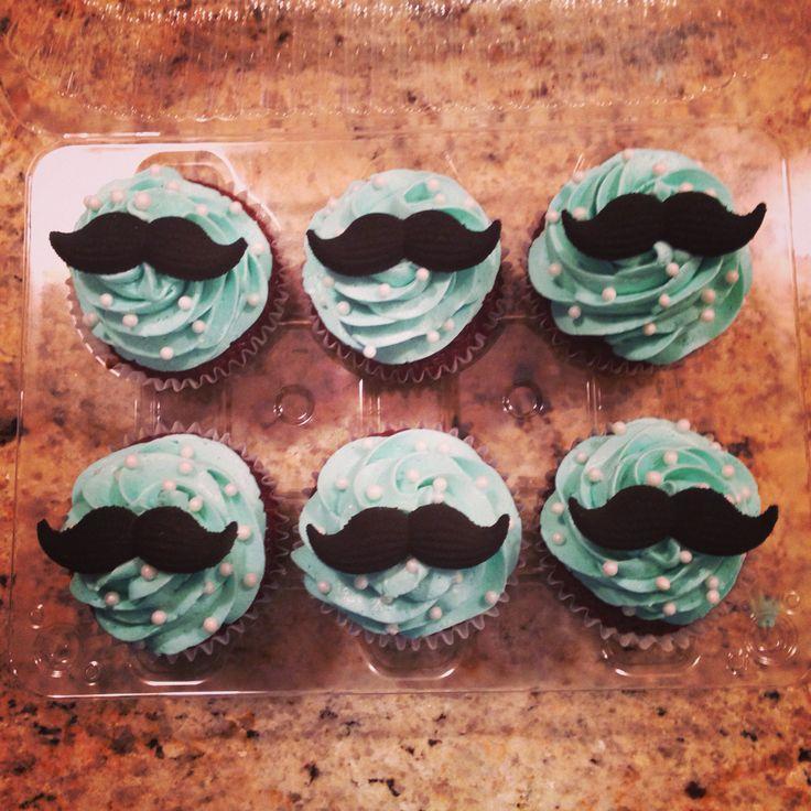 Mustache Cupcakes #babyshower #itsaboy