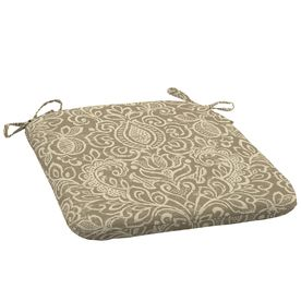 Garden Treasures Neutral Stencil Reversible Outdoor Seat Pad