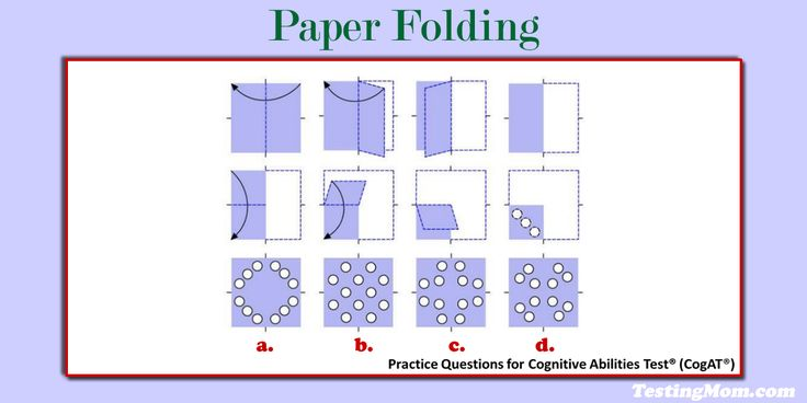 can your child solve this paper folding practice question for the cogat cogat paper. Black Bedroom Furniture Sets. Home Design Ideas
