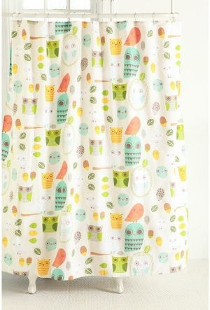 Owls And Acorns Shower Curtain   Urban Outfitters