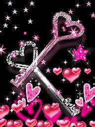 llaves con forma de corazon