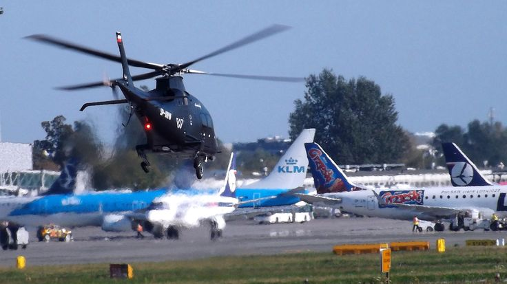 https://flic.kr/p/oMvsF8 | Agusta A109 SP Grand New, SP-AWW, Private owner | Poland, Warsaw Chopin Airport 4.09.2014