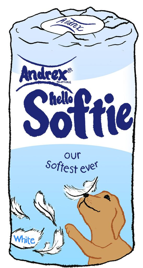 https://flic.kr/p/53SxwH | Andrex | bog roll, loo roll, toilet paper, tissue paper, bum wipes, ....puppy! The name Andrex comes from St Andrews's Mill in Walthamstow, where the toilet tissue was first made in 1942. It was the first 2-ply tissue. It's owned by Kimberly-Clark, the world's largest tissue maker.