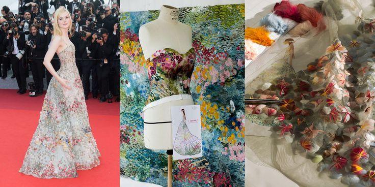 Come nasce un abito di alta moda come quello Dior indossato da Elle Fanning a Cannes? Se Elle Fanning è stata la perfetta principessa da fiaba di questo festival (in versione unicorno, ma non solo) non poteva non essere Dior la maison che più di tutte ne ha incarnato lo stile soft, romantico e delicato realizzando per lei un abito da sogno talmente poetico, che sembrava uscito da una favola. Si tratta del bustier dress che l'attrice ha indossato la sera del 23 maggio sul red carpet di Cannes…