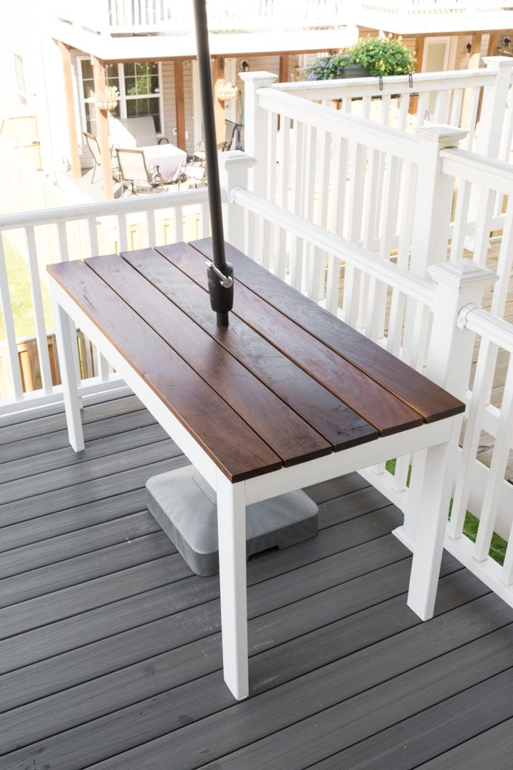 slatted outdoor dining table build diy