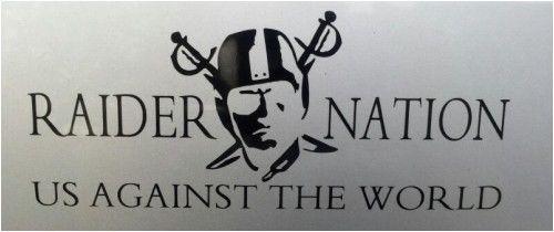 "Oakland Raiders Raider Nation ""US Against The World"" Vinyl Decal | eBay"