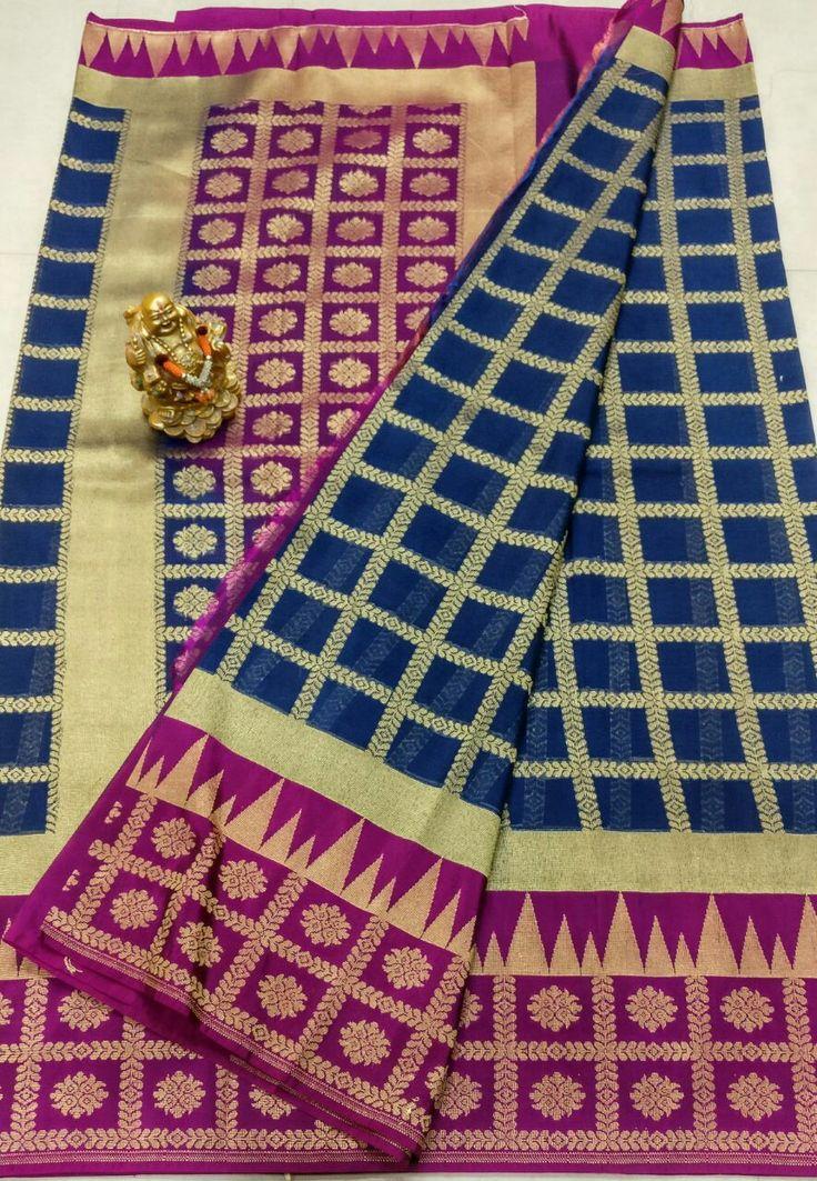 👆👆 Banars Georgette saree  Alvor saree same design Pallu heavy Design contrast Plain blouse contact  👆💰3250+⛵ Order what's app 7093235052