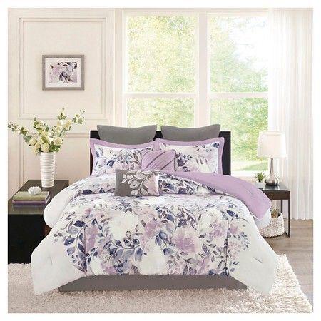 Lira 8 Piece Watercolor Floral Comforter Set : Target | @jenneralized