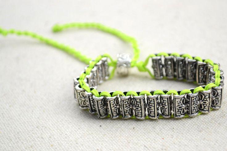 Crafts jewelry making- DIY beaded bracelet with 4 stand braiding – Pandahall
