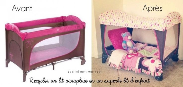 recycler un lit parapluie en un lit d'enfant
