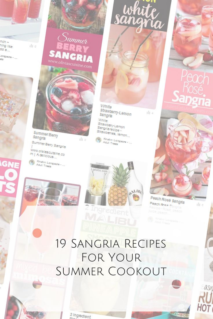 Summer means attending cookouts every weekend. I'm always looking for fun summer recipes and summer isn't complete without Sangria. These 19 Sangria recipes are guaranteed to win at your summer grill out. We breakdown the sangria recipes into white sangria, red sangria and rose sangria. So many options, so little time to try them all.