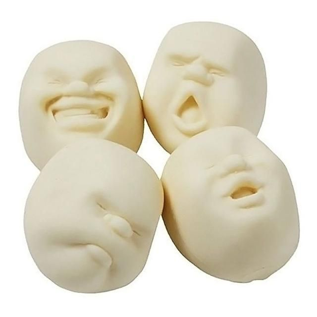 New Fun Novelty Antistress Ball Toy Human Face Emotion Vent Ball Relax Doll Adult Wreak Reduce Stress Novelty Toys for Gift
