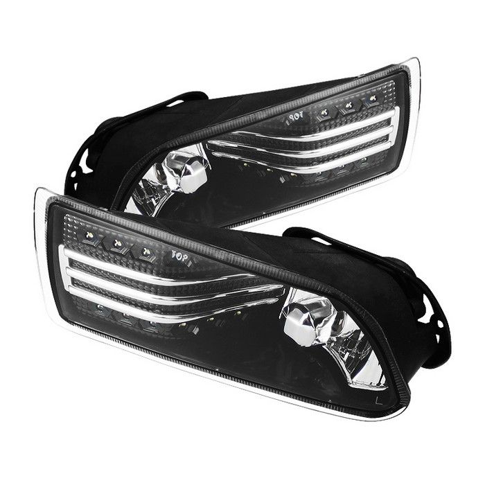 Scion TC Chrome/Clear LED Fog Lights | Pair | Spyder | Fits 2005, 2006, 2007, 2008, 2009, 2010