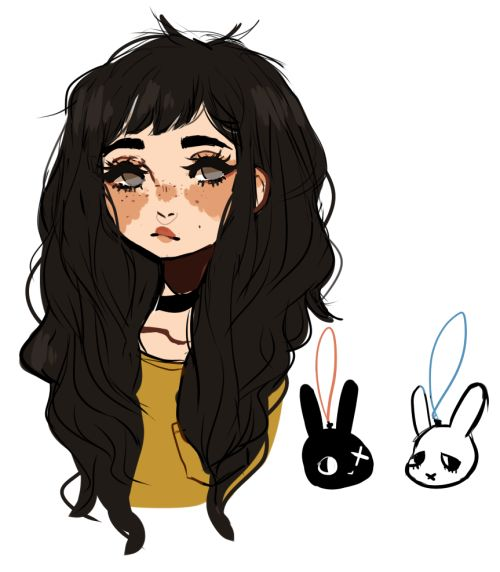Bunnies and girl
