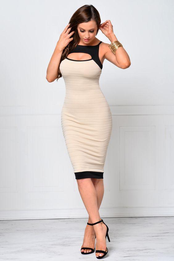 modelos de vestidos colados 2018