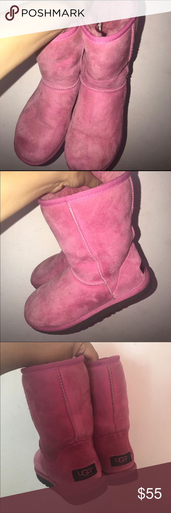 Pink uggs Wore once to the fair but didn't wash UGG Shoes Winter & Rain Boots