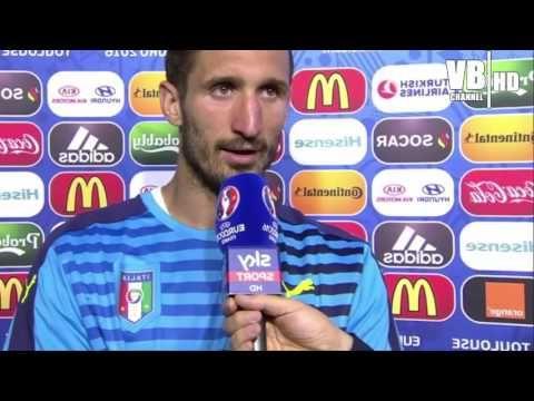 Italia vs Svezia 1-0: Intervista a CHIELLINI