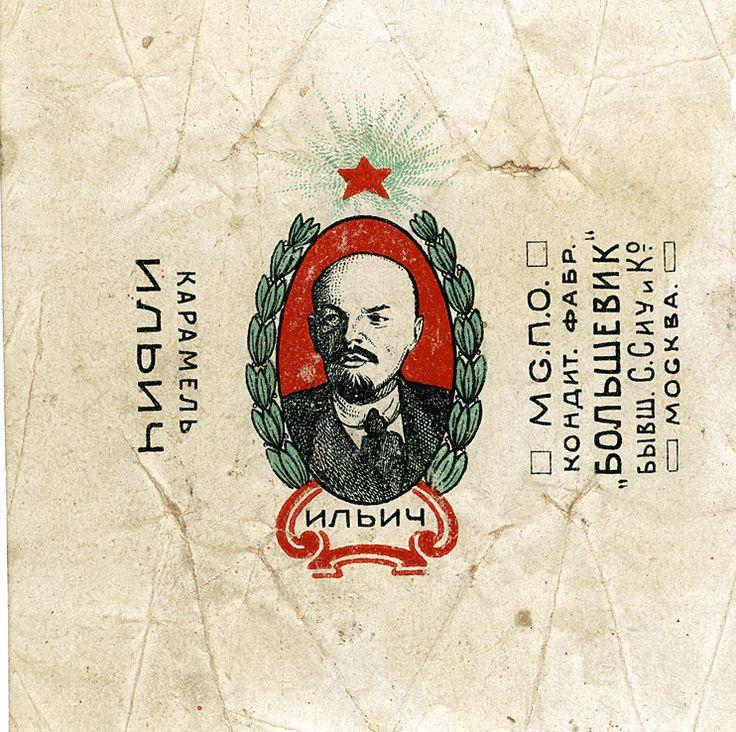 Il'ich [Lenin], candy wrapper, ca. 1920