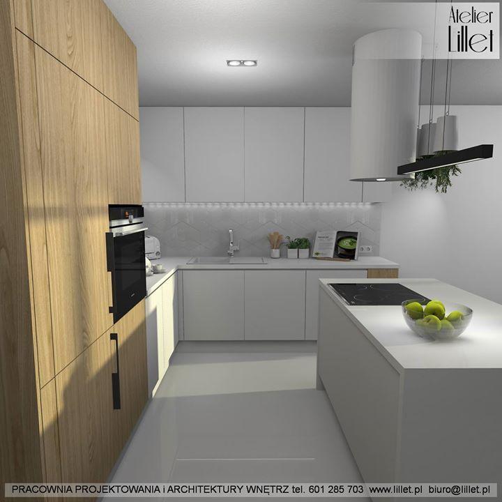 Nowy Projekt Kuchnia Z Wyspa Przewaga Bieli W Fakturach Polysk Mat Plytka W Ksztalcie Rombow Jak Podoba Wam Sie Taka Propozy Home Decor Home Kitchen