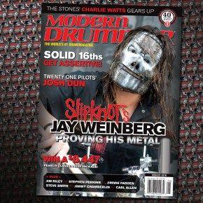 August 2016 Issue of Modern Drummer magazine featuring Slipknot's Jay Weinberg #drums #drummer #drummers #drumming