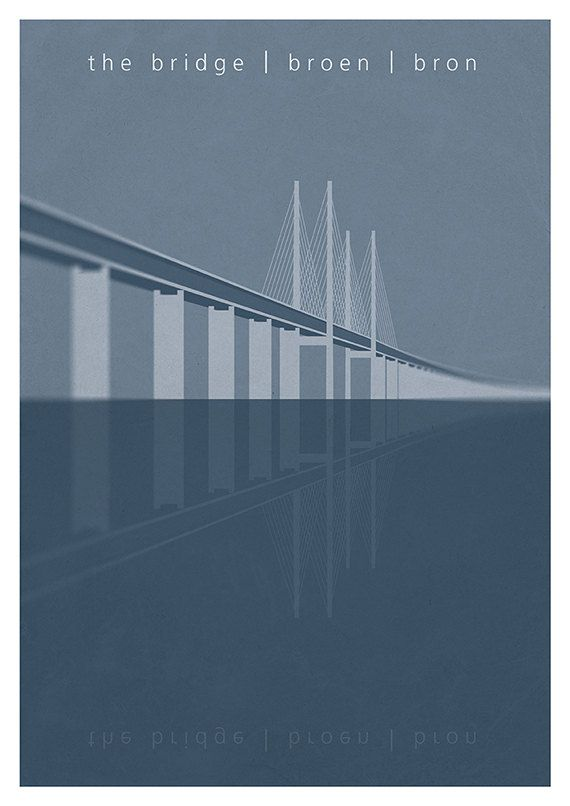 •10% DISCOUNT PIN10 •poster of the TV series The Bridge (original Danish/Swedish version) Bron. Broen.