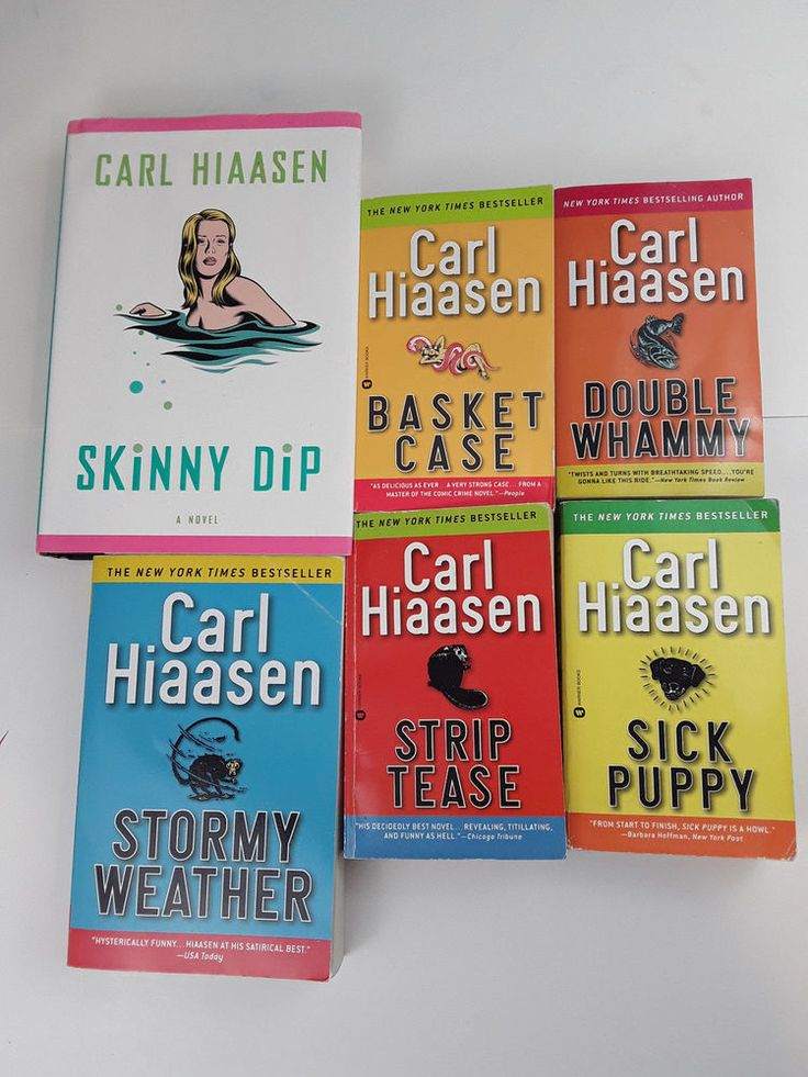 Carl Hiaasen Books 5 Lot Skinny Dip BASCKET CASE Strip Tease DOUBLE WHAMMY +