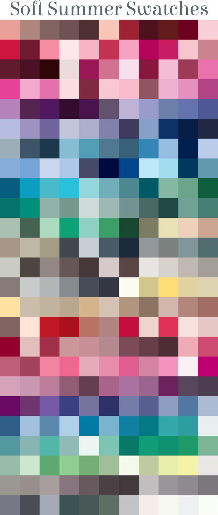 Summer Palette 2018: Best 25+ Soft Summer Palette Ideas On Pinterest