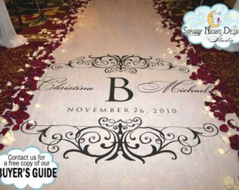 Aisle Runner Wedding Aisle Runner Custom by StarryNightDesign