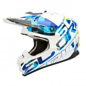 Scorpion Crosshelm VX-15 Evo Air Grid Pearl White/Blue