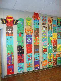 Thomas Elementary Art: 4th Grade Totem Poles